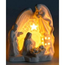 Bright white ceramic crib - LED