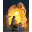 Bright white ceramic crib - LED