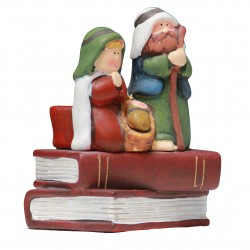 Terracotta Christmas crib - Tee light candle holder