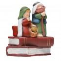 Terracotta Christmas crib - Tee light candle holder