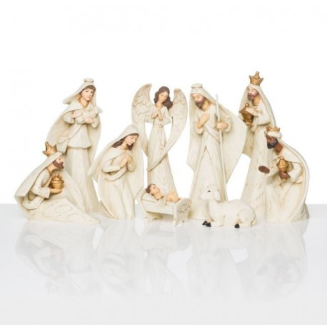 Modern Christmas Crib - 9 pieces