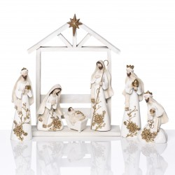 Modern Christmas crib - resin