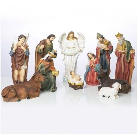 Resin Christmas crib - 11 pieces