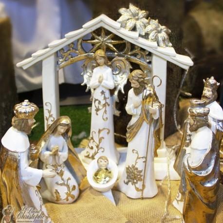 Modern Christmas crib - resin