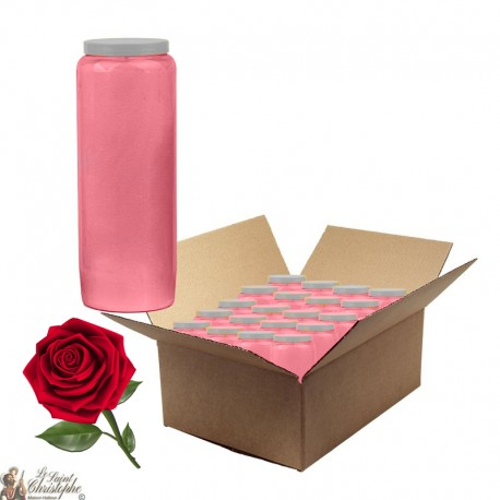 Candles Novena - Pink - perfumed Rose