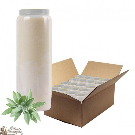 Novenas Candles - White - Sage fragrance