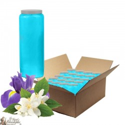 Novena candles scented with Jasmine and Iris - box of 20 pieces