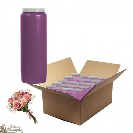 Scented novena candles Flowered bouquet - 20 pieces cardboard box