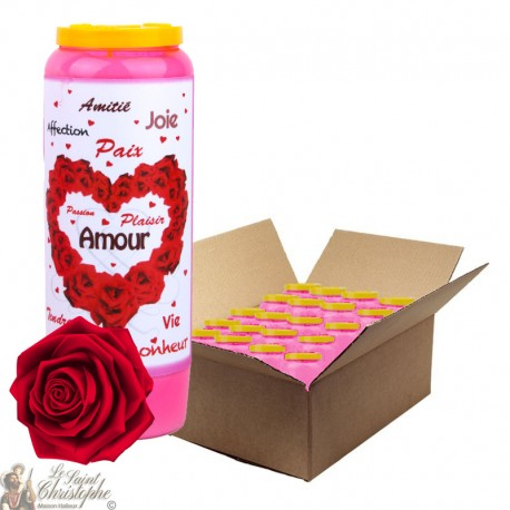 Pink candle candles with perfume of Roses in Valentine's Day - French prayer