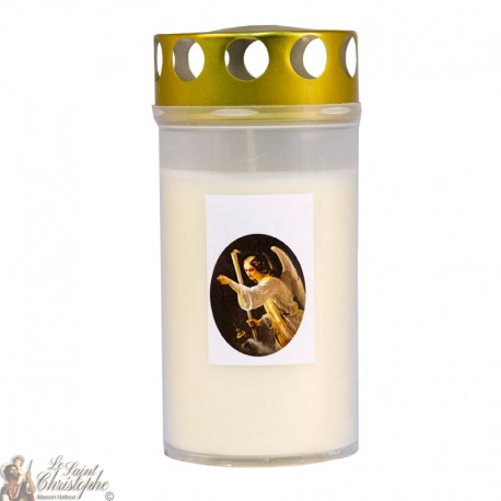 Outdoor cemetery candle - white color - 72 hours