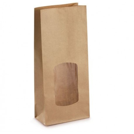 Kraft bag with window 21.5 cm