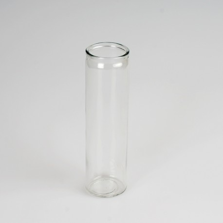 Transparent glass container for candle 6 x 21 cm