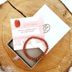 Gold stone beads bracelet