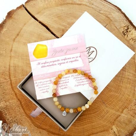 Yellow Jade natural stone bracelet