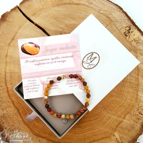 Natural stone bracelet Jasper mochaite