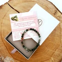 Natural stone bracelet Indian Agate