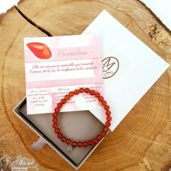 Carnelian natural stone bracelet