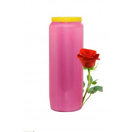 Bougies Neuvaines Roses Claires Parfum de Rose