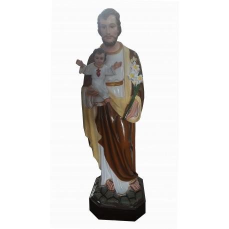 Saint Joseph robe brune 100 cm