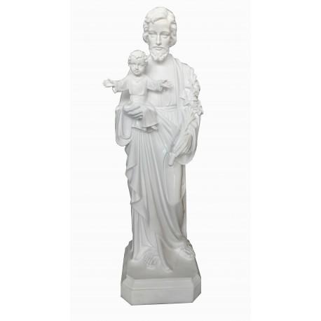 Saint Joseph robe blanche 120 cm