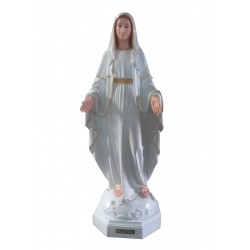 Vierge Miraculeuse robe blanche et or 120 cm