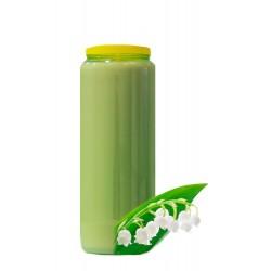 Bougies de Neuvaine - Vertes claires - parfum Muguet
