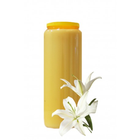 Bougies Neuvaines Ocres Parfum Lys