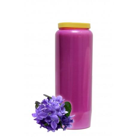 Bougies Neuvaines - Mauves claires - parfum Violette