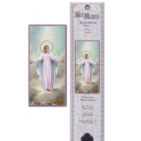 """Pochette encens """"Vierge de Medjugorge"""" - 15 pces - 60gr"""