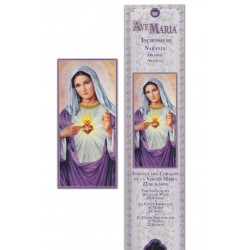 sacred heart of mary incense pouch - 15 pces