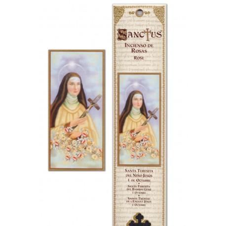 """Pochette encens """"Sainte Thérèse"""" - 15 pces - 60gr"""
