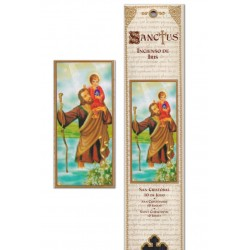 St Christopher incense pouch - 15 pces