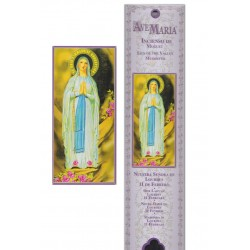 Pochette encens - Vierge de Lourdes - 15 pces - 60gr