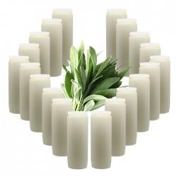 Bougies Neuvaines - Blanches - parfum sauge