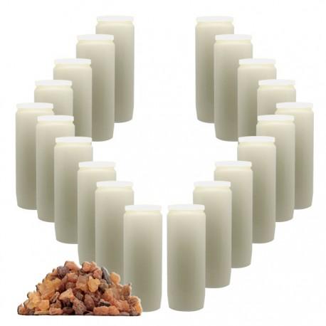 Bougies Neuvaines - Blanches - parfum myrrhe