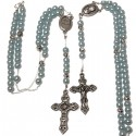 Chapelet collier perles bleues