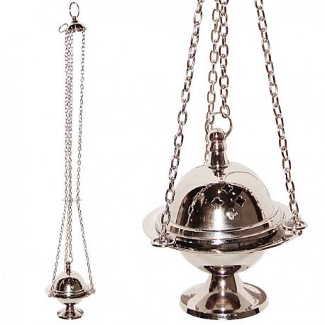 Encensoir argenté avec chainette