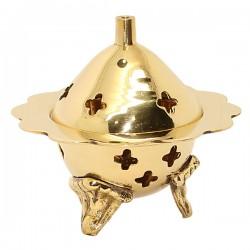 Encensoir en cuivre sculpté de fleur