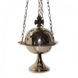 Encensoir avec croix en couleur argenté