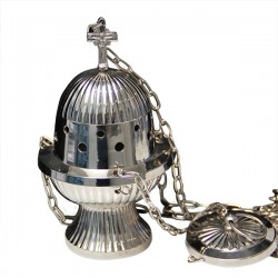 Censer hanging metal silver color - 18 cm