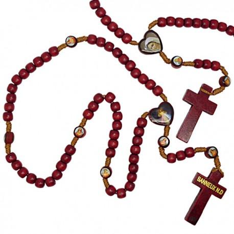 Chapelet Christ Miséricordieux en bois