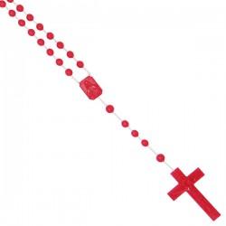 Chapelet en plastique - rouge