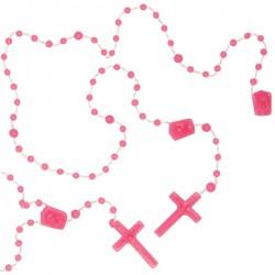 Chapelet en plastique - rose