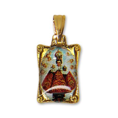 Médaille du Petit Jésus de Prague rectangulaire