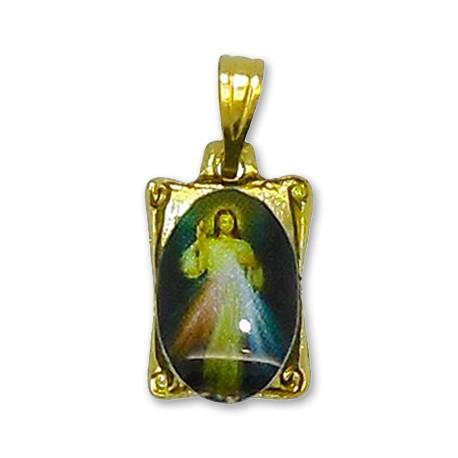 Médaille du Christ Miséricordieux rectangulaire