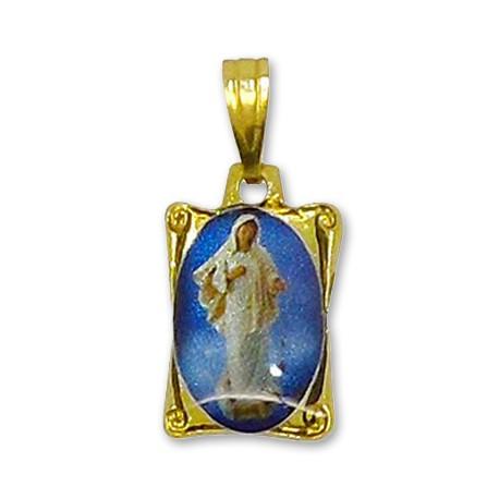 Médaille de la Vierge de Medjugorje rectangulaire