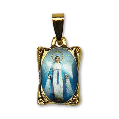 Médaille de la Vierge Miraculeuse rectangulaire