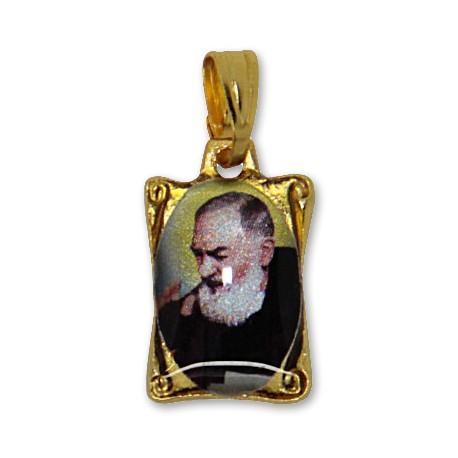 Médaille de Padre Pio rectangulaire