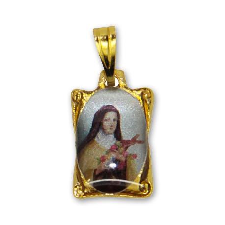 Médaille Sainte Thérèse rectangulaire