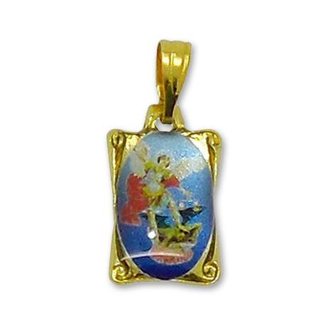 Médaille Saint Michel rectangulaire